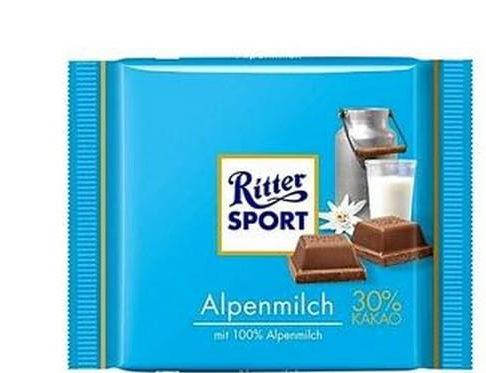 Ritter Sport Czekolada mleczna alpejska 100 g