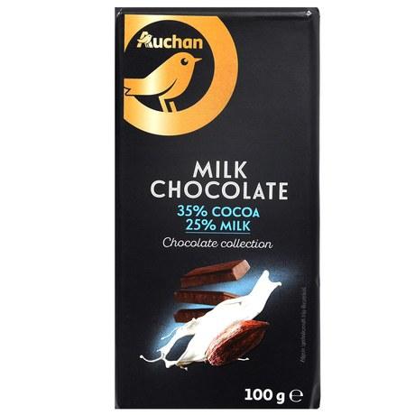 auchan czekolada mleczna