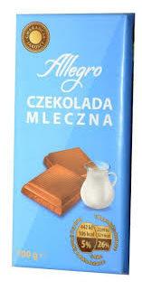 allegro czekolada mleczna
