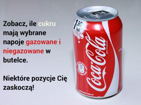 napoje zawartość cukru