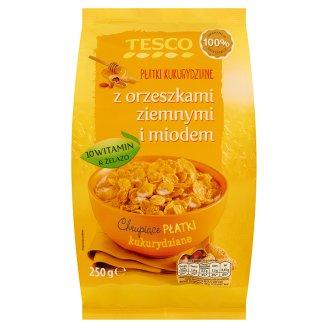 Tesco Płatki kukurydziane z orzeszkami ziemnymi i miodem 250 g