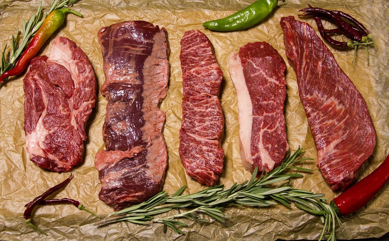 różne rodzaje mięsa