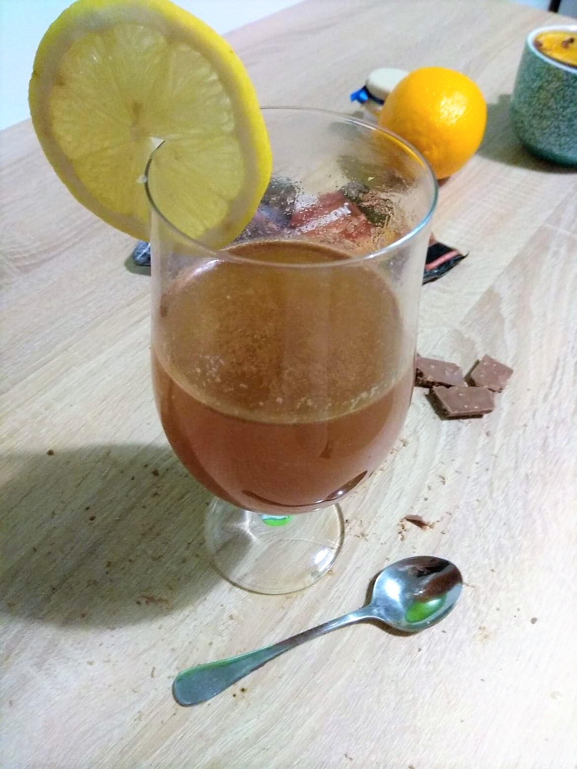 herbata z czekoladą
