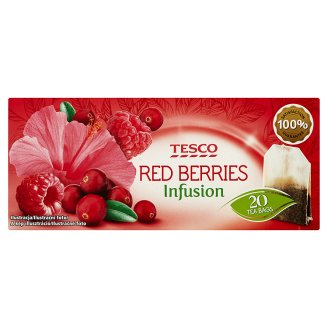 Tesco Red Berries Infusion Herbatka owocowa