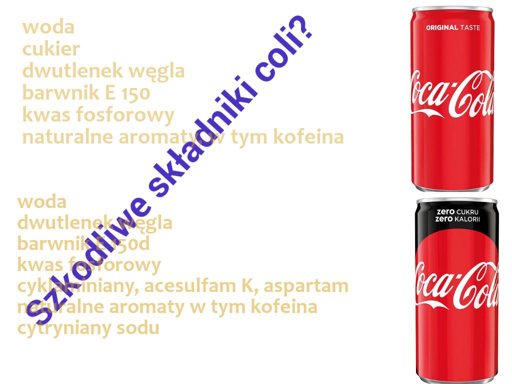 składniki coli
