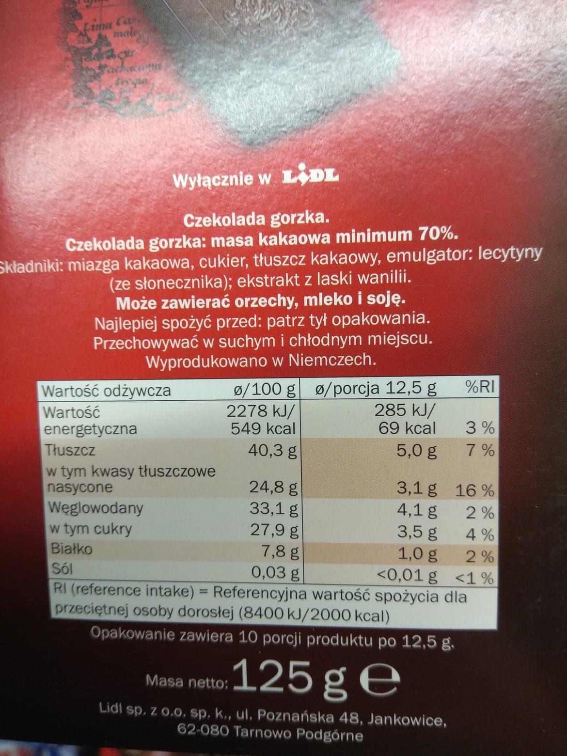 czekolada lidl ekwador