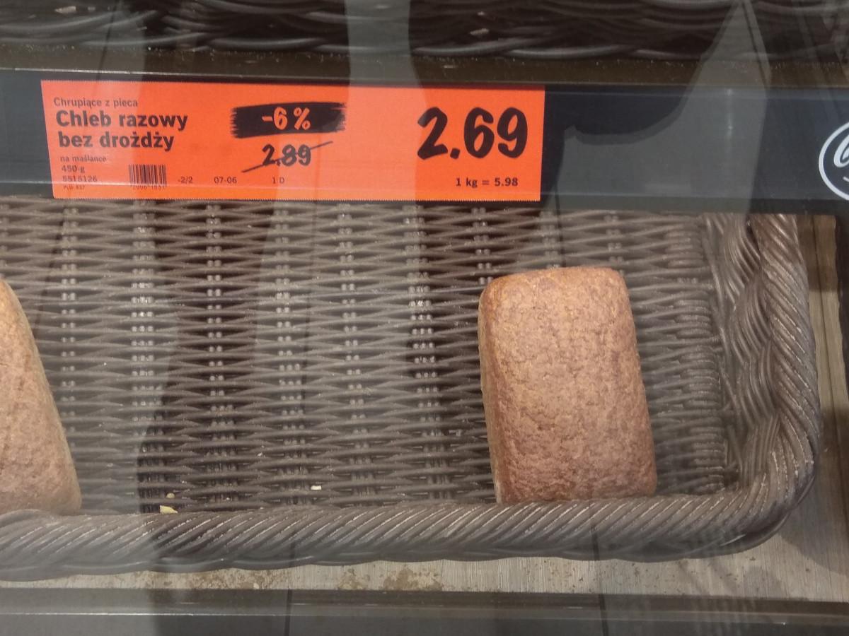chleb razowy bez drożdży