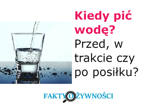 kiedy pić wodę