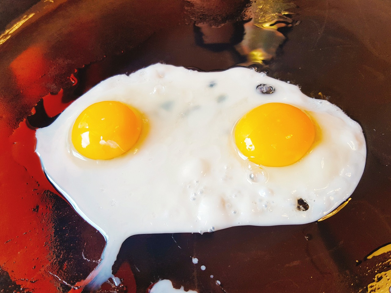 smażone jaja