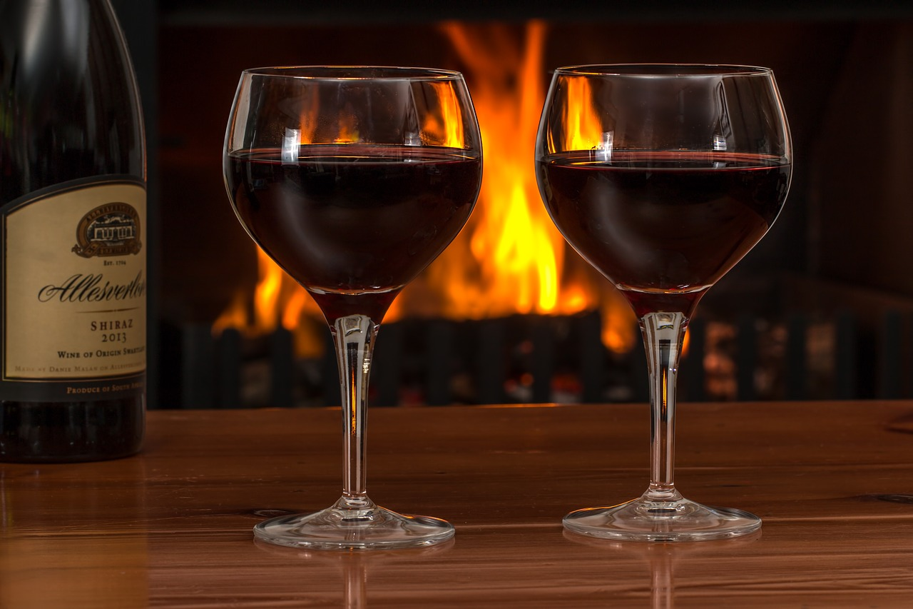 czerwone wino