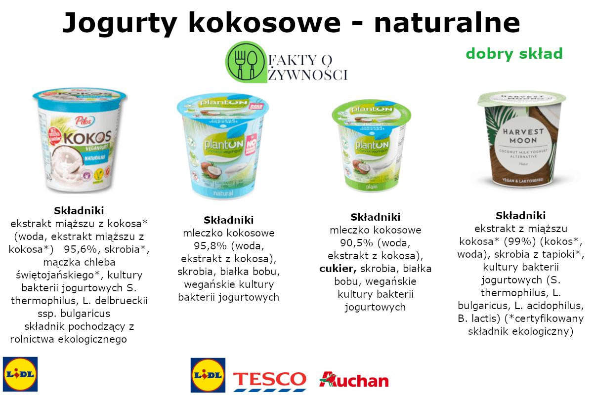 Jogurty wegańskie – kokosowe