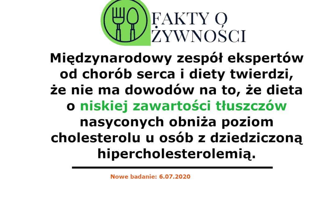 Badania sugerują, że osoby z wysokim poziomem cholesterolu powinny eliminować węglowodany, a nie tłuszcze nasycone