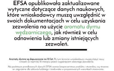 EFSA opublikowała zaktualizowane wytyczne naukowe dotyczące zastosowań środków aromatyzujących wędzarniczych